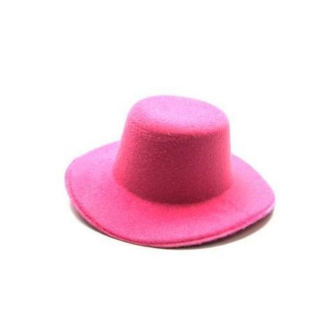 Шляпа  для игрушек розовая 8см
