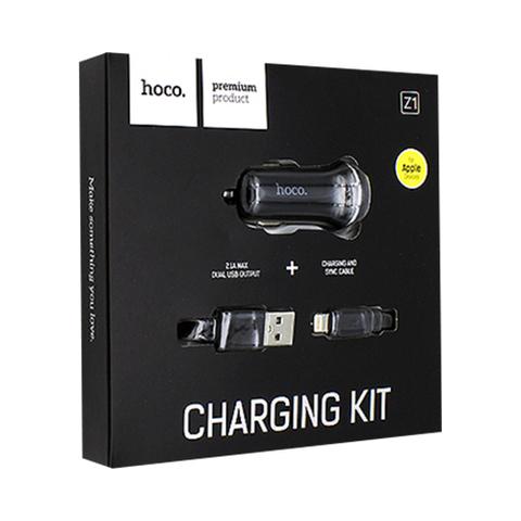 Купить автомобильное зарядное устройство Hoco Z1 + Lightning