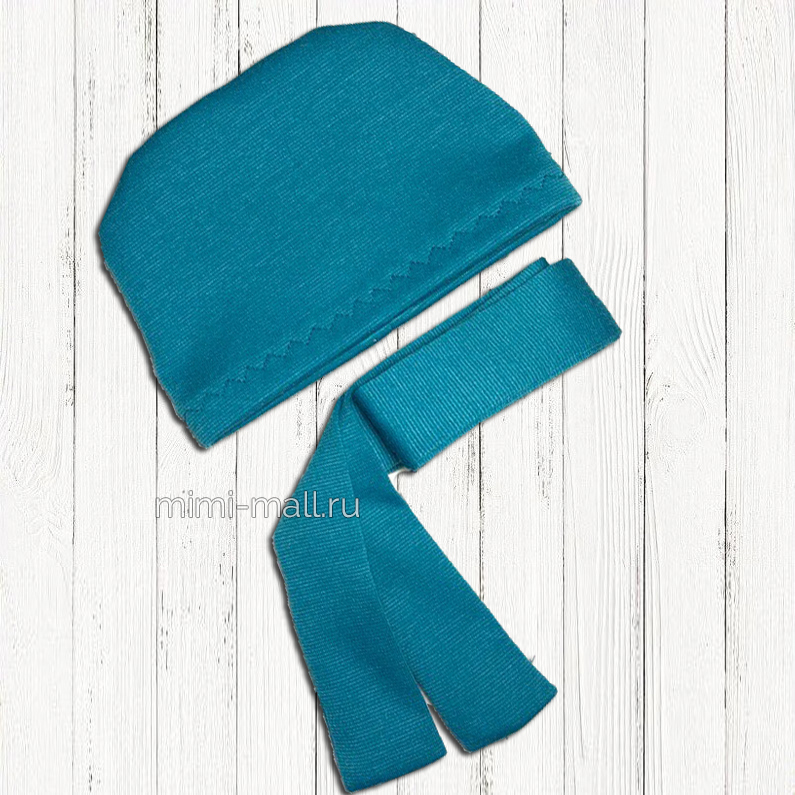 Шапочка и шарф для кота Басика (бирюзовый)