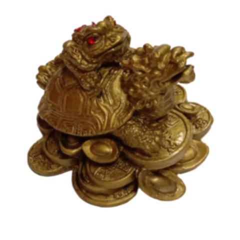 Денежная жаба на драконе полистоун