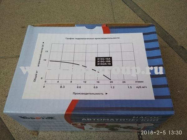 Насос Vodotok (XinWilo) для подкачки X15G-10B, хол.вода, 1 бар, корпус нерж. отзывы