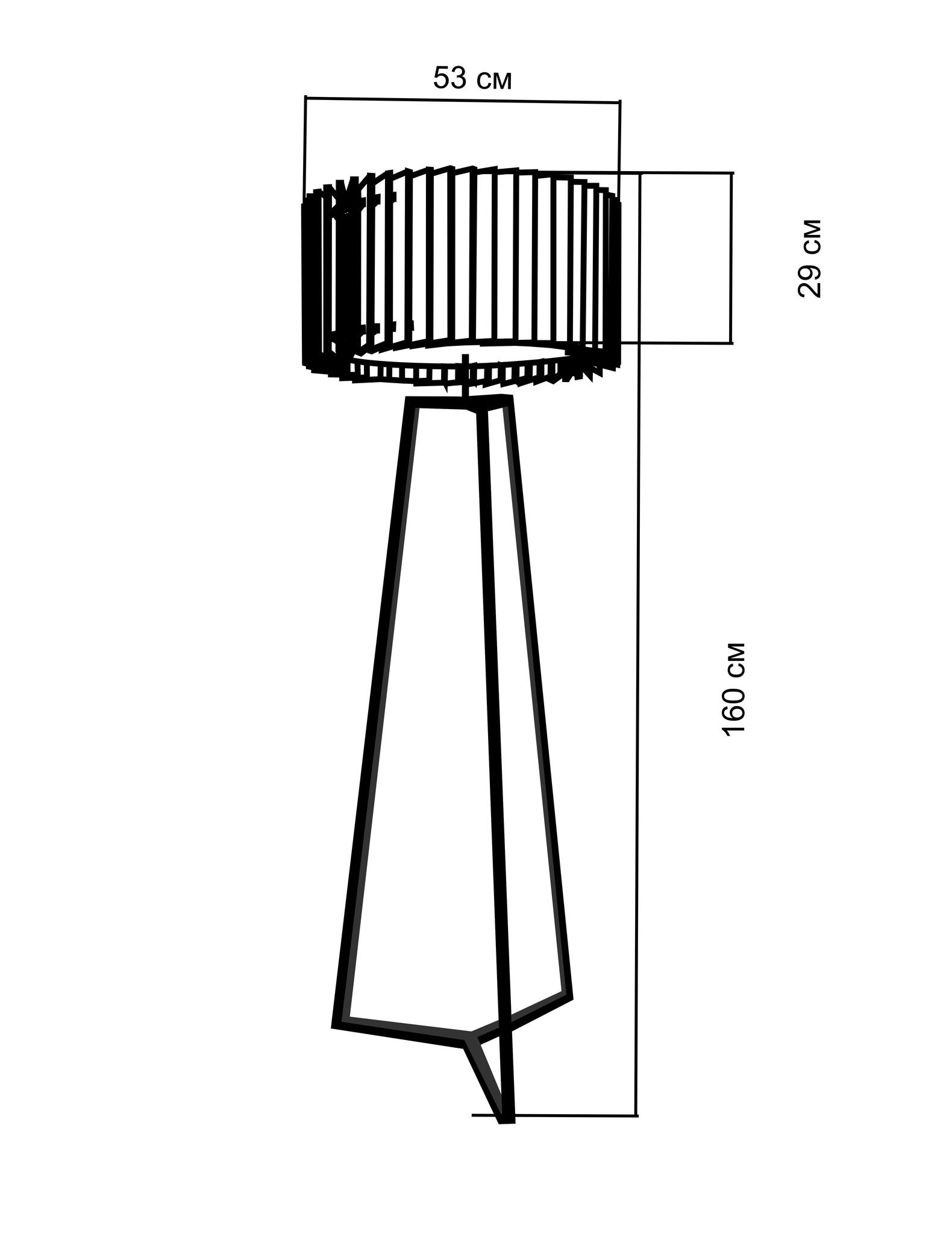 Торшер Woodled Ротор