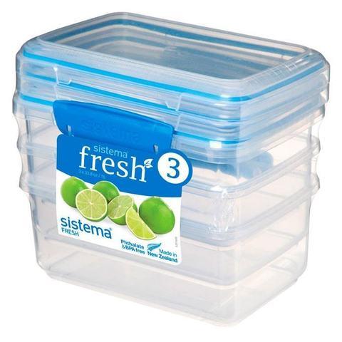 """Набор пищевых контейнеров Sistema """"Fresh""""1л, 3шт."""