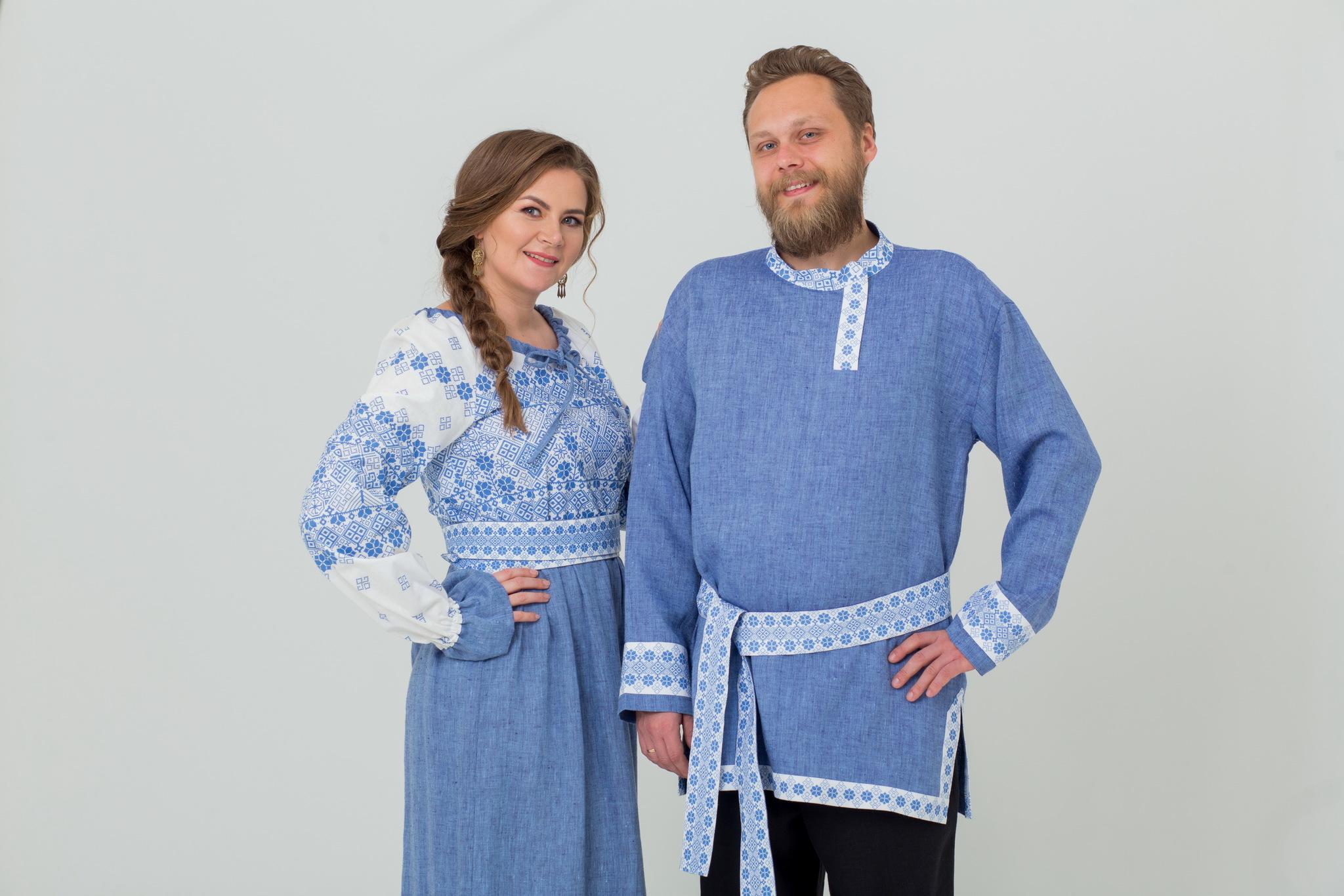 Платье льняное Дары солнца купить с рубахой