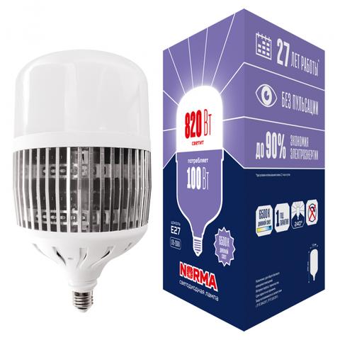 LED-M80-100W/6500K/E27/FR/NR Лампа светодиодная, матовая. Серия Norma. Дневной белый свет (6500K). Картон. ТМ Volpe.