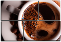 """Модульная картина """" Горячий кофе """""""