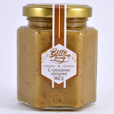 Крем-мёд с грецкими орехами BelloHoney, 260г