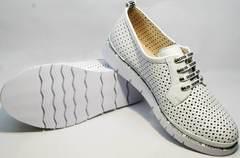 Белые женские туфли полуспортивные GUERO G177-63 White.