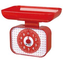 Весы бытовые настольные 10 кг DELTA КСА-105 с чашей красные