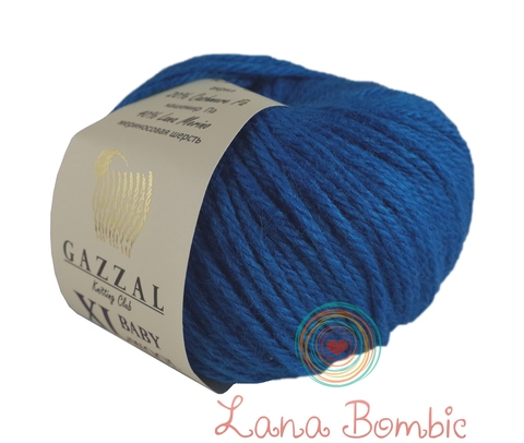 Пряжа Gazzal Baby Wool XL темная бирюза 822