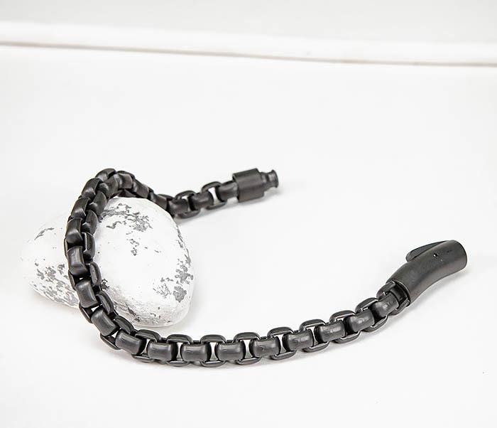 BM579-3 Черный браслет из стали с матовым покрытием фото 04