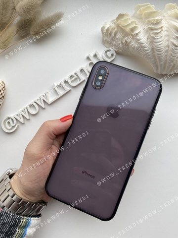 Чехол iPhone XS Max Clear Case /black/