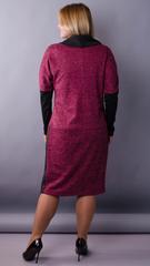 Таша. Стильное платье на каждый день. Бордо.