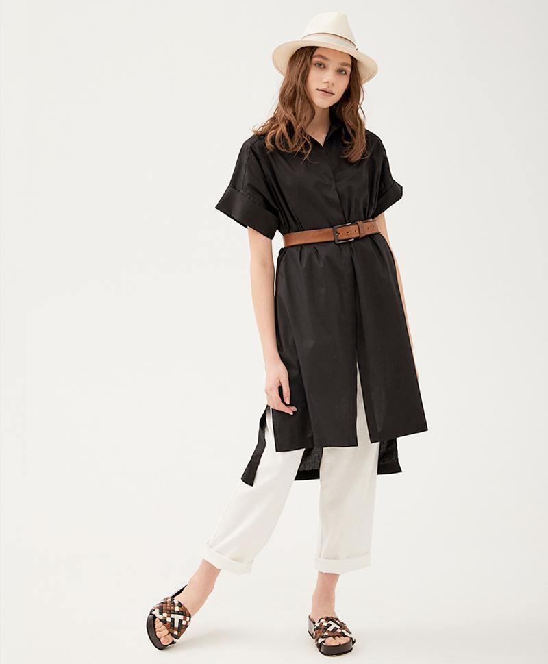 Платье-рубашка Лилас черное