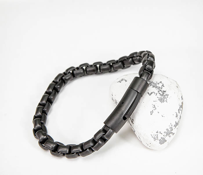 BM579-3 Черный браслет из стали с матовым покрытием фото 06