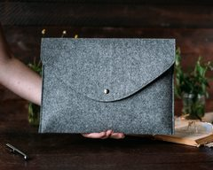 Темный войлочный конверт Gmakin для Macbook