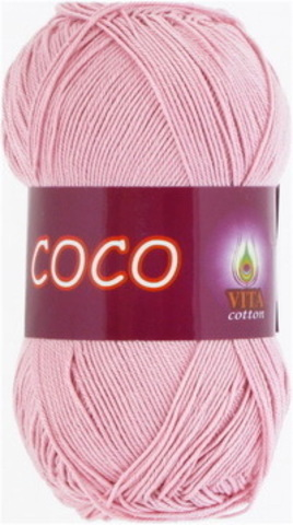 Пряжа Coco (Vita cotton) 3866 Чайная роза