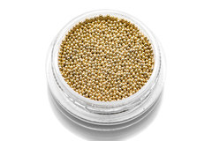TNL, Бульонки металлические золото 0,8 мм, 7 гр
