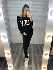женский спортивный костюм черного цвета купить