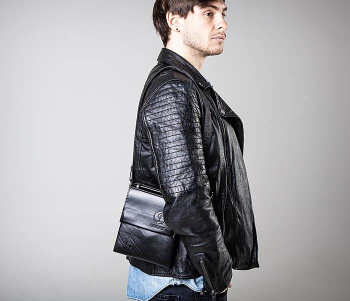 BAG560-1-2 Небольшая мужская сумка с ремнем на плечо фото 02