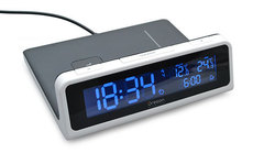 Беспроводное зарядное устройство c часами и термометром - qw201