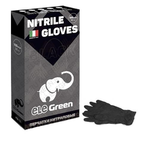Перчатки нитриловые плотные (черные)