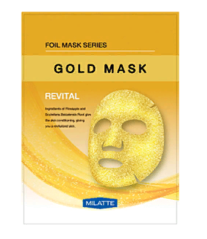 Маска тканевая витаминная MILATTE GOLD MASK_REVITAL 23гр