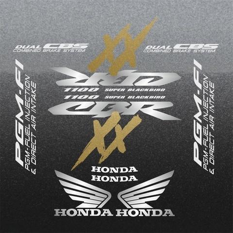 Набор виниловых наклеек на мотоцикл HONDA CBR 1100XX 2001