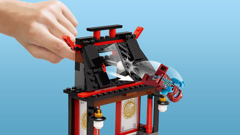 LEGO Ninjago: Площадь сражения эйрджитсу 70590 — Airjitzu Battle Grounds — Аэроджитцу: поле битвы Лего Нидзяго
