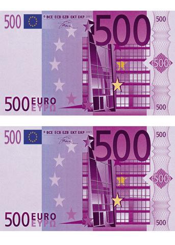 Печать на вафельной бумаге, Набор Купюра 500 Евро 2