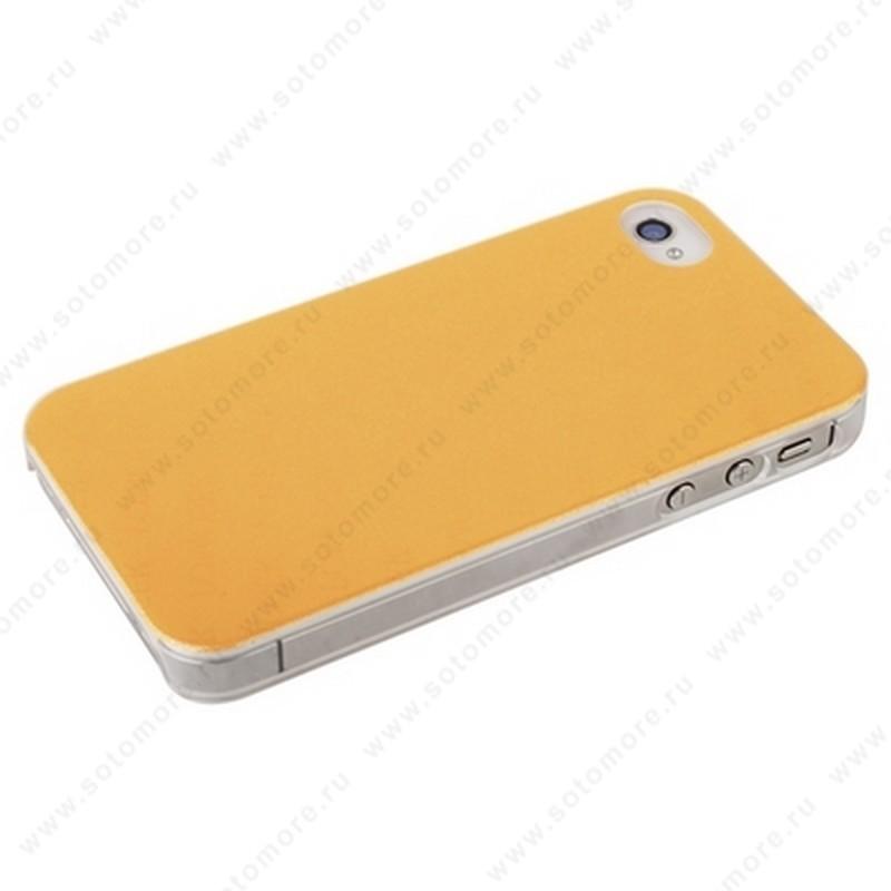 Накладка POMOSER для iPhone 4s/ 4 оранжевая