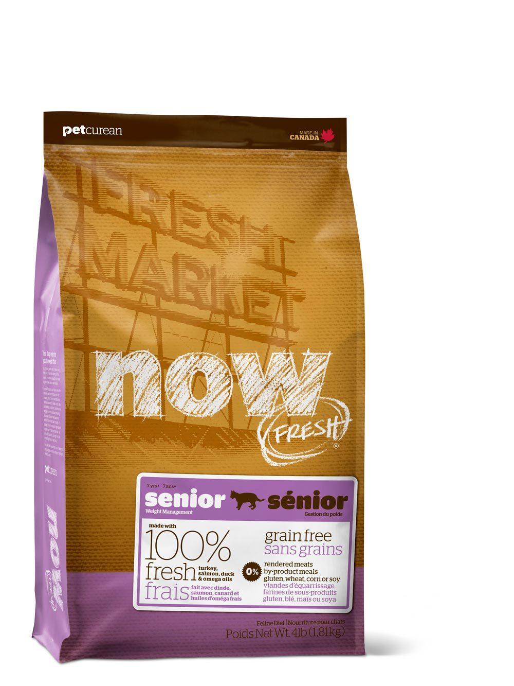 Сухой корм Беззерновой корм для пожилых кошек, NOW FRESH, Контроль веса, с индейкой, уткой и овощами 2700_29.jpg