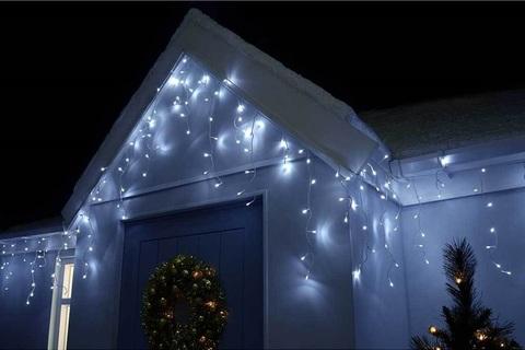 Уличная бахрома LED Гирлянда силиконовая 3 на 0,7 LED
