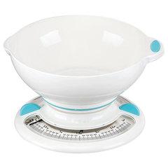 Весы бытовые настольные  3 кг DELTA КСА-103 с чашей белые с голубым
