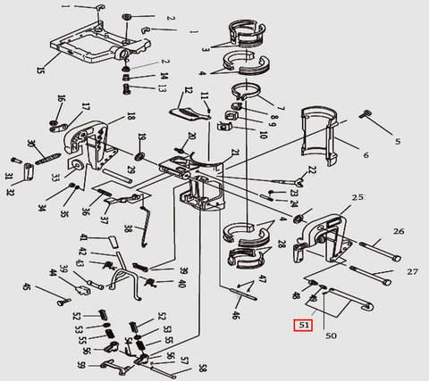 Фиксатор угла наклона в сборе для лодочного мотора T9.8 Sea-PRO (11-51)