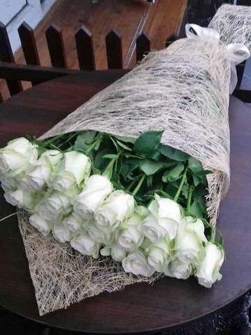Белоснежные метровые розы