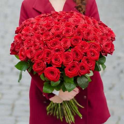 Розы красные Red Naomi от 9шт