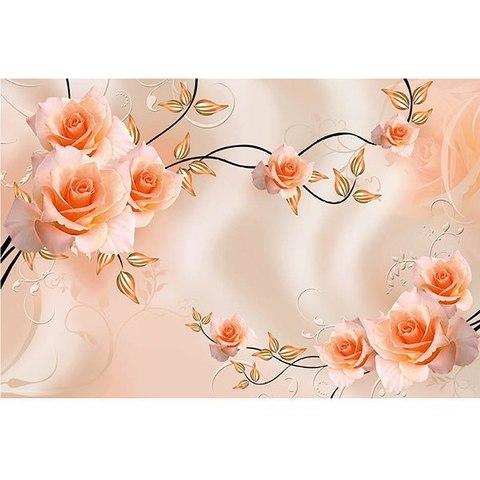 Пастель 3D - розы 392x260 см