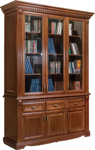 Шкаф для книг 3 дв. Афина