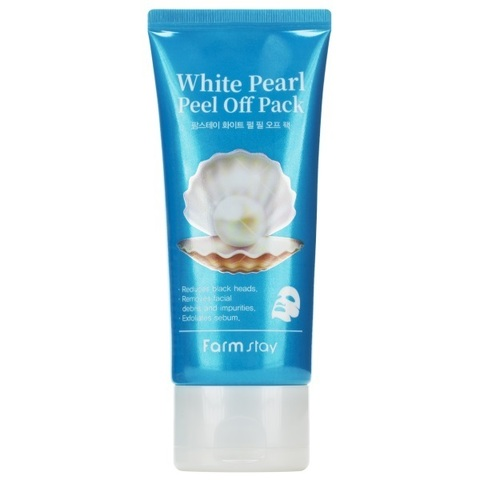 Маска-пленка очищающая с экстрактом жемчуга FarmStay White Pearl Peel Off Pack 100мл