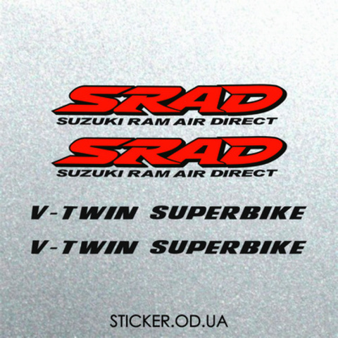 Набор наклеек на мотоцикл Suzuki TL 1000R, 4 шт.