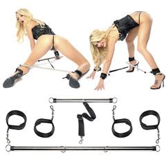 Комплект наручников и наножников с распорками Spread 'em Bar and Cuff Set