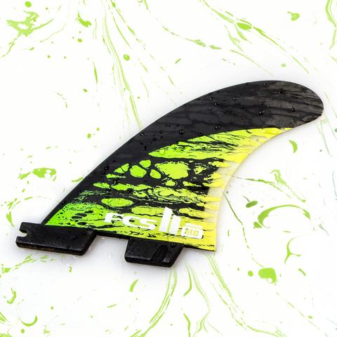 FCS II MB PC Carbon Green Medium Tri Retail Fins