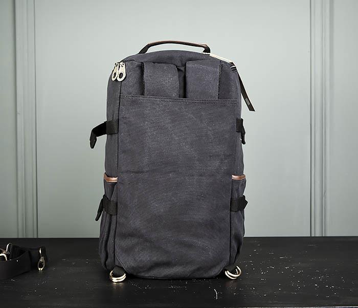 BAG368-1 Городская тканевая сумка рюкзак с ремнем на плечо фото 09