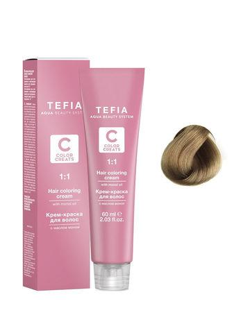 Крем-краска для волос с маслом монои 8.2 светлый блондин бежевый 60 мл COLOR CREATS Tefia