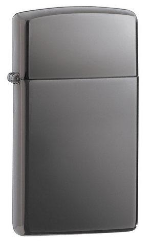 Зажигалка Zippo Slim Black Ice, латунь/сталь, чёрная, глянцевая, 30x10x55 мм123