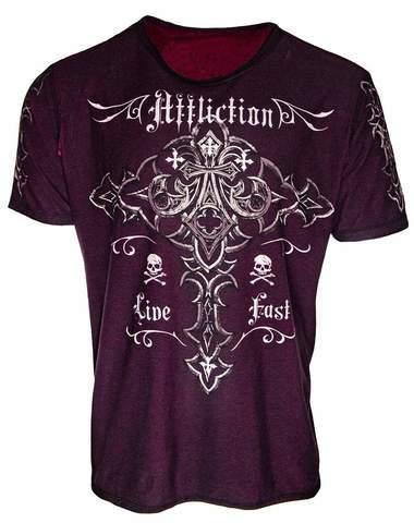 Двусторонняя футболка ISOTOPE Affliction Exclusive. Очень редкая модель.