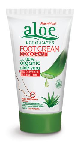 Крем для ног дезодорант Aloe Treasures 50 мл