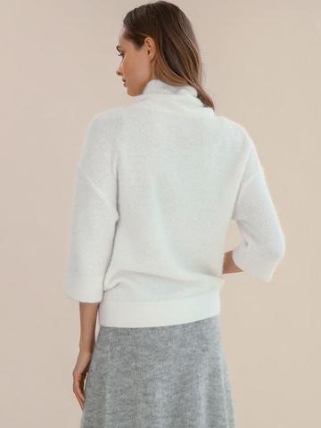 Женский свитер молочного цвета из ангоры - фото 4