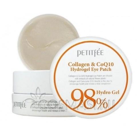 Патчи для глаз Petitfee Collagen Q10 Hydrogel Eye Patch с коллагеном и коэнзимом Q10, 60 шт